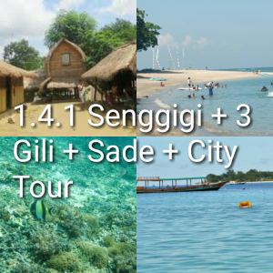 tour lombok 4 hari 3 malam, 3 gili, sade