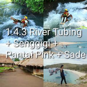 paket tour lombok 4 hari 3 malam, river tubing