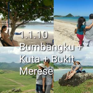 lombok one day tour bumbangku, pantai kuta, bukit merese