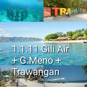 lombok one day tour gili trawangan meno air