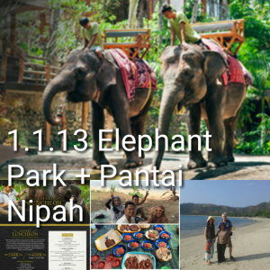 lombok one day tour, elephant park, pantai nipah