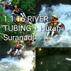 river tubing lombok, hutan suranadi