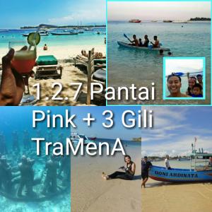 tour lombok 2DD1N, pantai pink, gili trawangan, gili meno, gili air