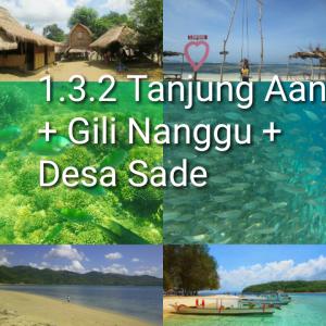 tour lombok 3D2N, tanjung aan, gili nanggu, desa sade
