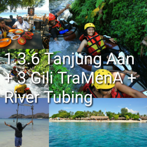 tour lombok 3 hari 2 malam, river tubiing, gili meno, gili air, trawangan