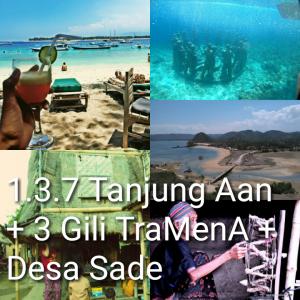 tour lombok 3 hari 2 malam, 3 gili, desa sade, river tubing