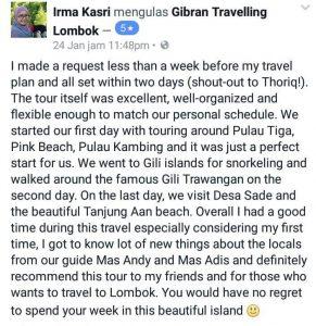 paket travel ke lombok online