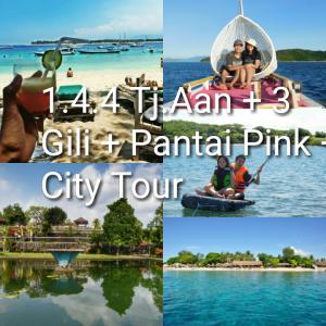 paket tour lombok 4 hari 3 malam 3 gili pink