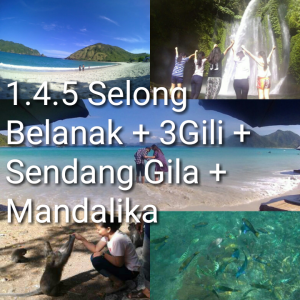 paket tour lombok 4 hari 3 malam 3 gili waterfall