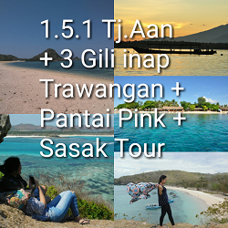 paket tour lombok 5 hari 4 malam 3 gili pink