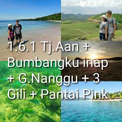 paket tour lombok 6 hari 5 malam bumbangku gili pink