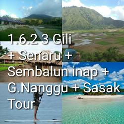 paket tour lombok 6 hari 5 malam gili waterfall sembalun