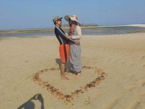 romantisme jalur pasir Pulau Kambing