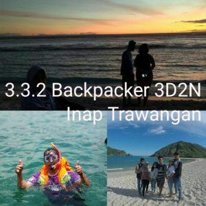 paket wisata lombok backpacker 3 hari 2 malam inap trawangan