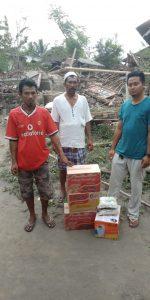 penyerahan bantuan donasi gempa lombok